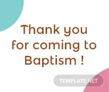 Baptism Thank You Tag Template