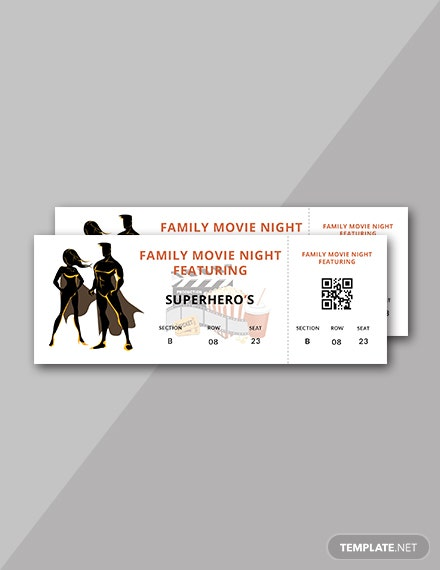 Movie Night Ticket Template