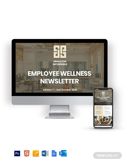 Employee Wellness Newsletter Template