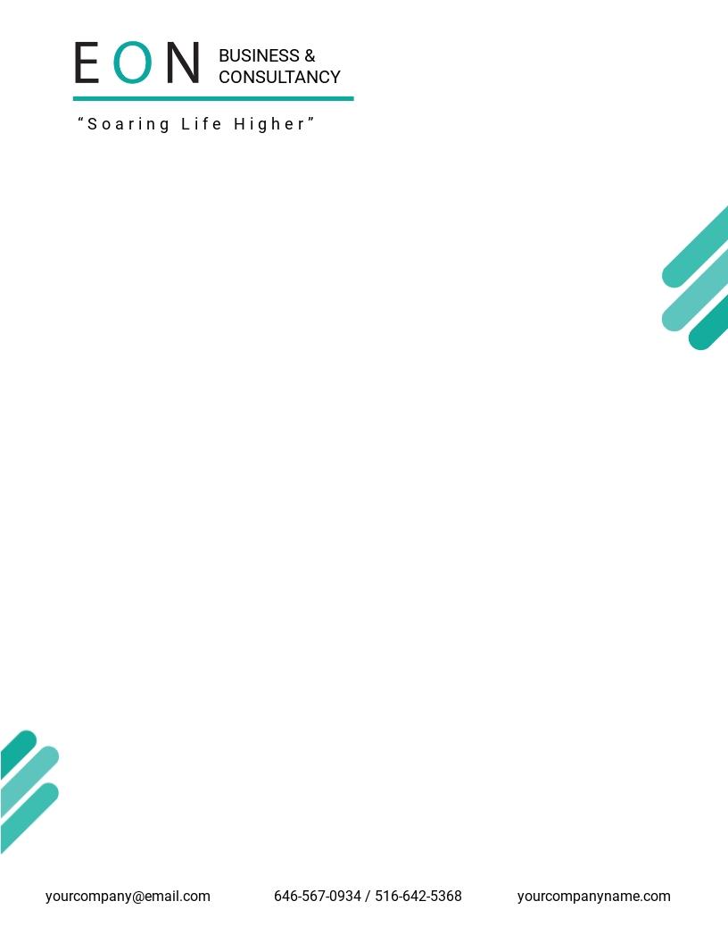 Free Sample HR Letterhead Template