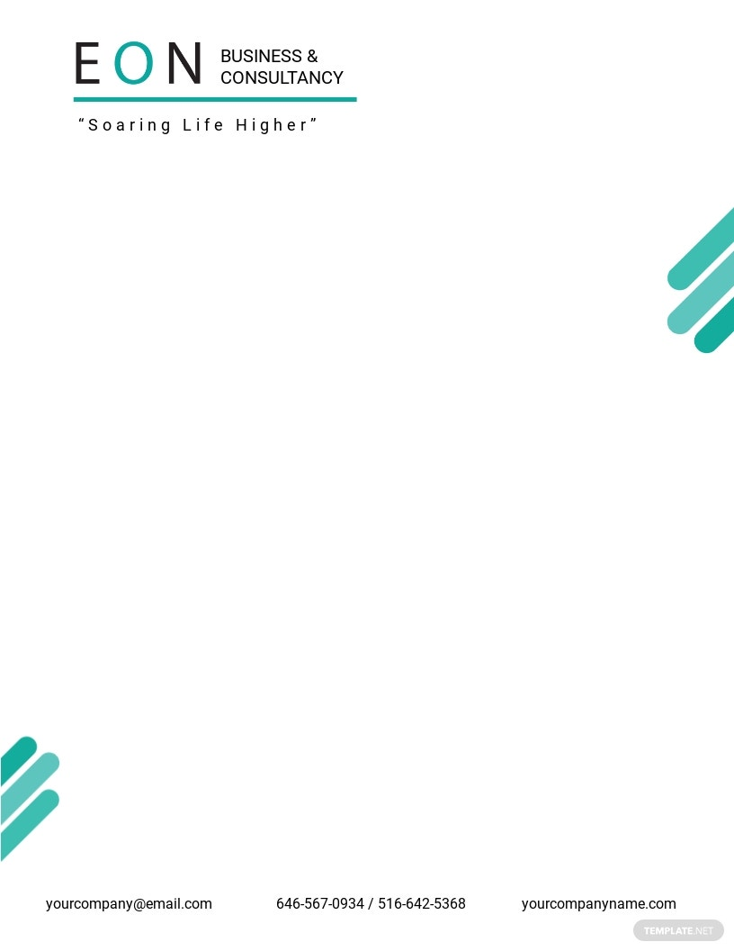 Sample HR Letterhead Template