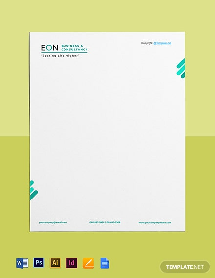 Free Sample HR Letterhead Template