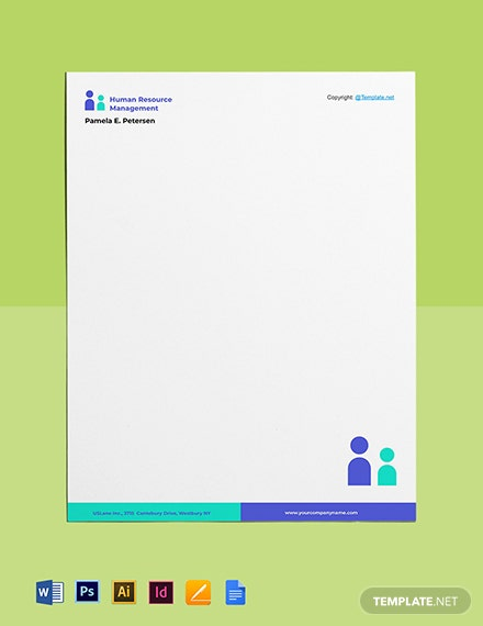 Free Simple HR Letterhead Template
