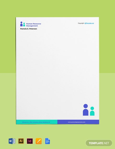 Free Simple HR Letterhead Template