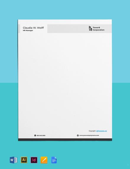 Free Clean HR Letterhead Template