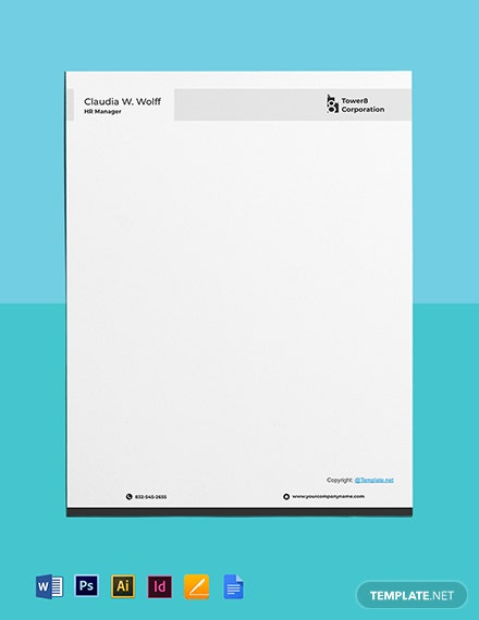 Free Clean HR Letterhead Template