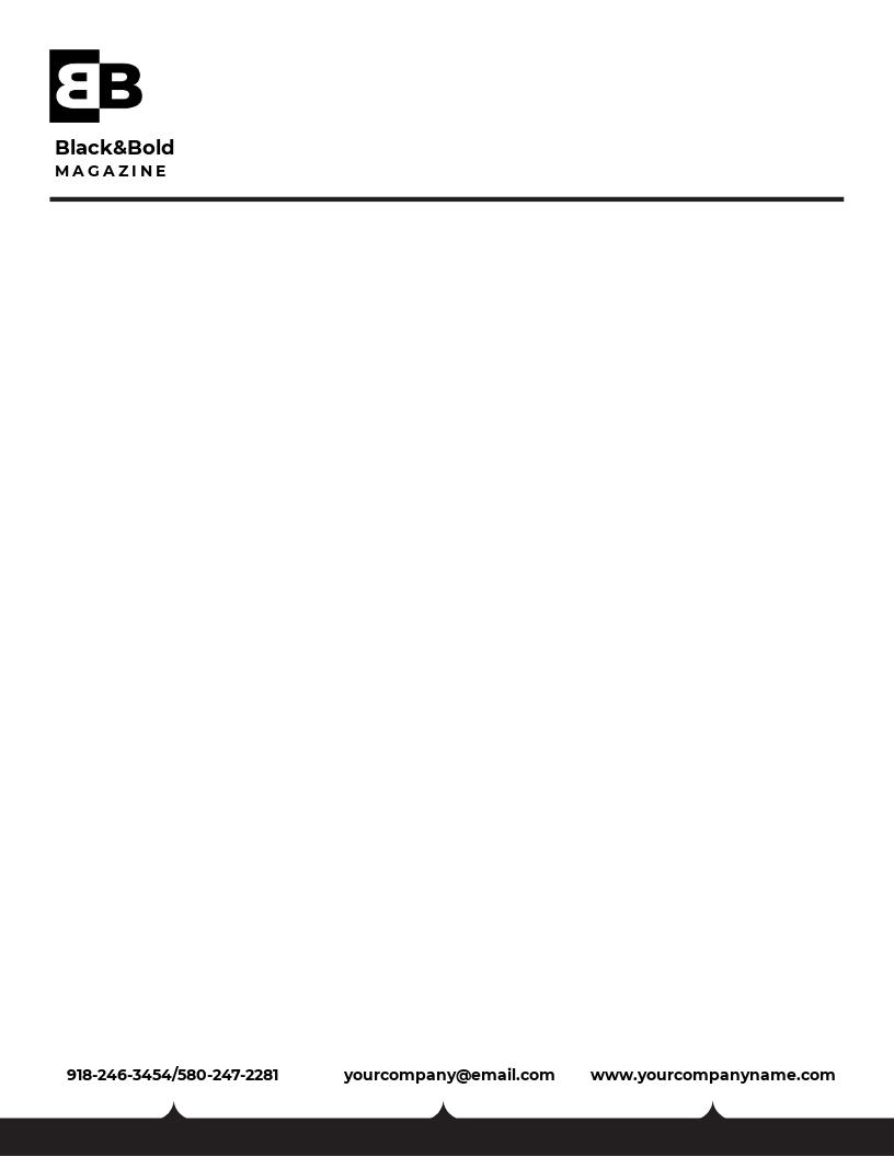 Free Blank HR Letterhead Template
