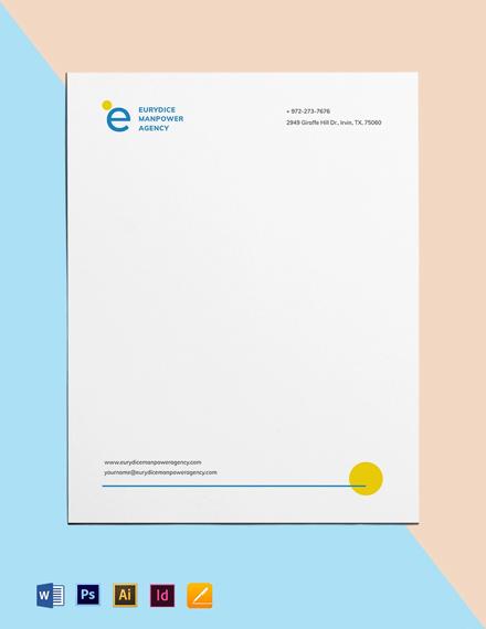 Employment Agency Letterhead Template
