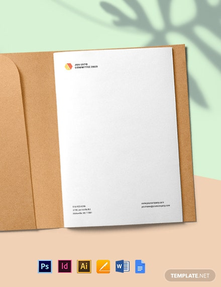 Job Expo Letterhead Template