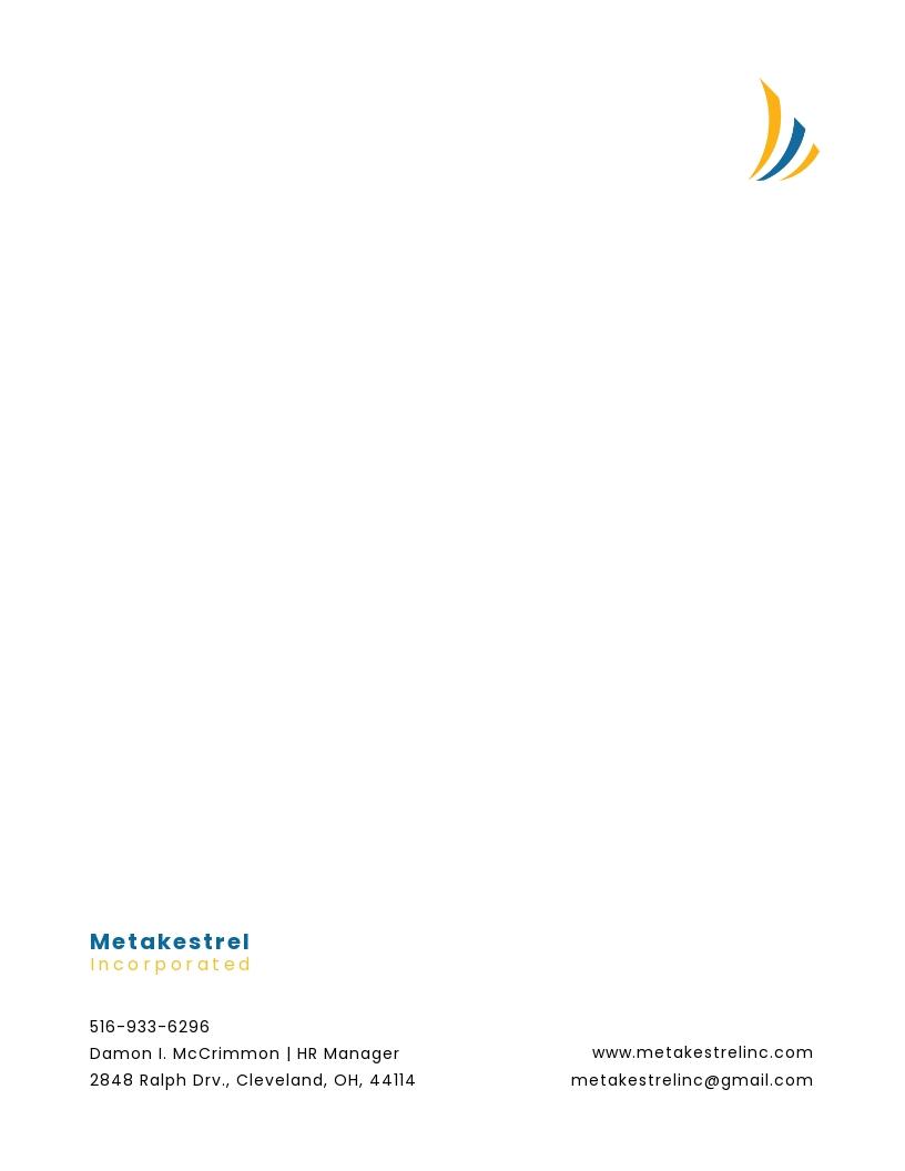HR Management Letterhead Template