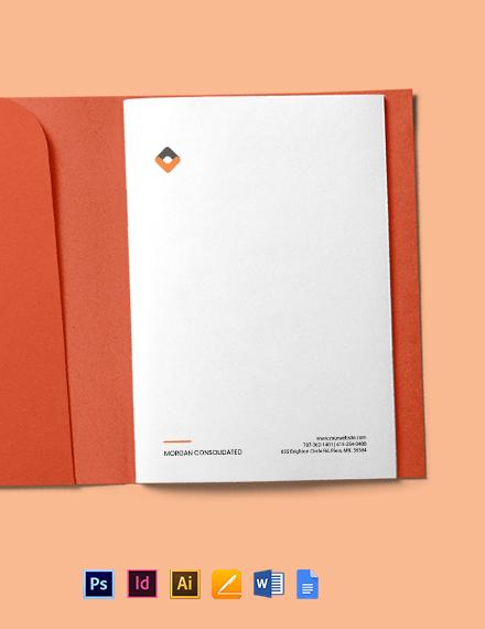 HR Planning Letterhead Template