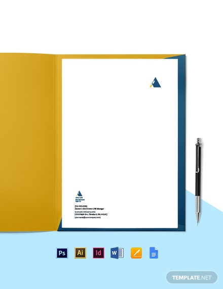 HR Agency Letterhead Template
