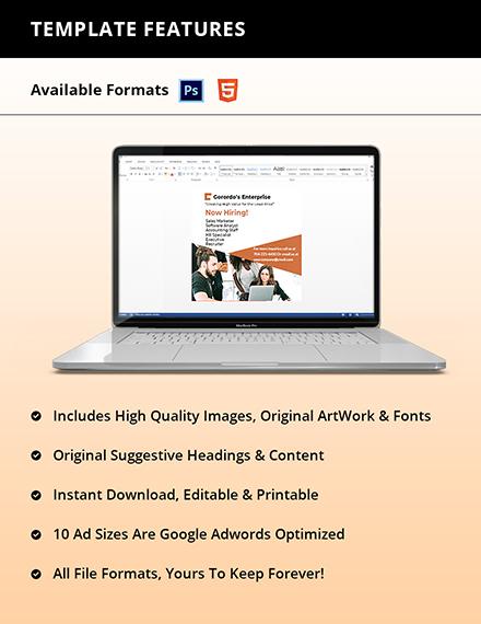 Free Modern HR Banner Template Download