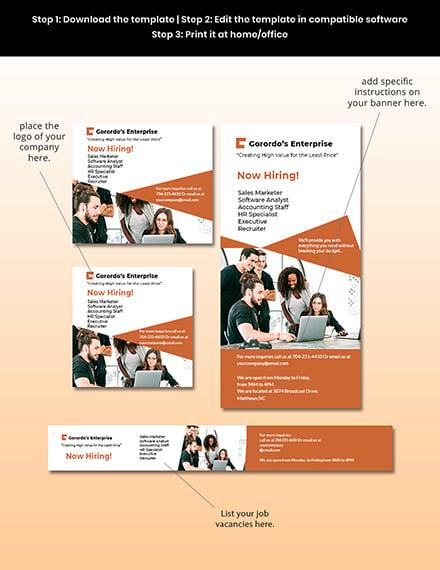 Free Modern HR Banner Template Sample
