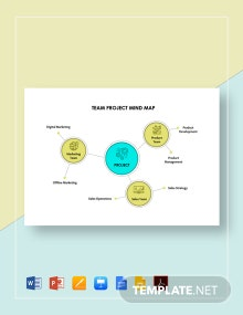 Team Project Mind Map Template