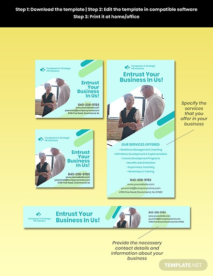 Free Creative HR Banner Template Format