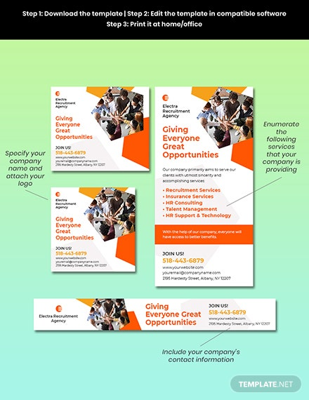 HR Services Banner Template Format