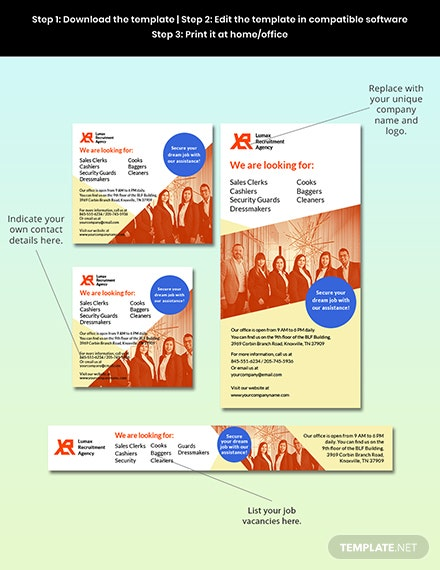 Recruitment Agency Banner Template Format