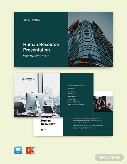 Free Sample HR Presentation Template