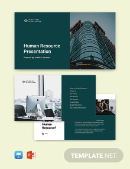 Free Sample HR Presentation Template