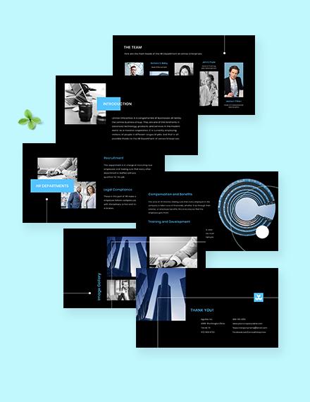 Free Modern HR Presentation Format