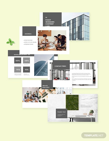 Free Simple HR Presentation Template Format Download