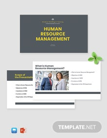 HR Management Presentation Template
