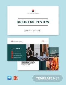 Business Review Presentation Template