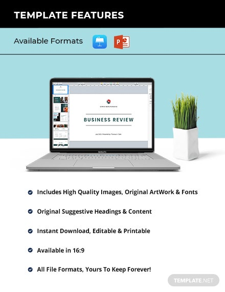 Printable Business Review Presentation Template