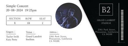 Simple Concert Ticket Template