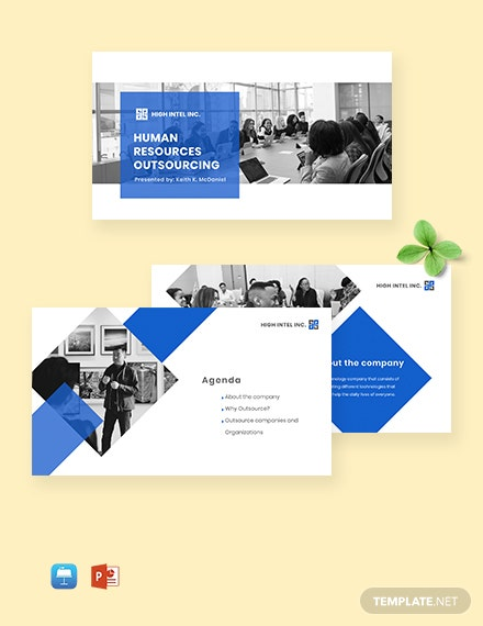 HR Outsourcing Presentation Template