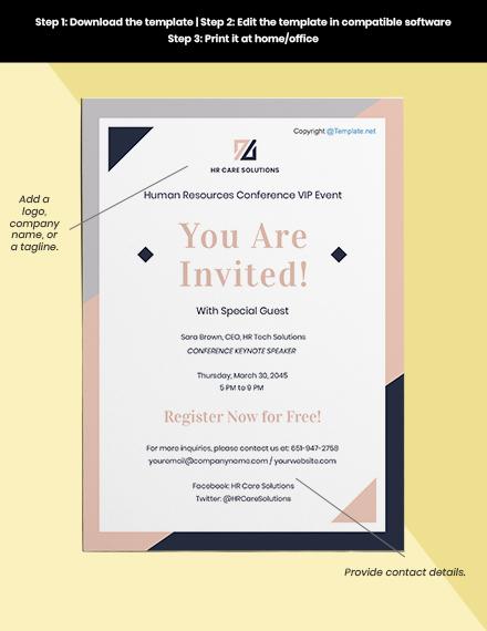 Free Simple HR Invitation Format