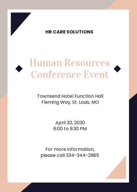 Simple HR Invitation Template