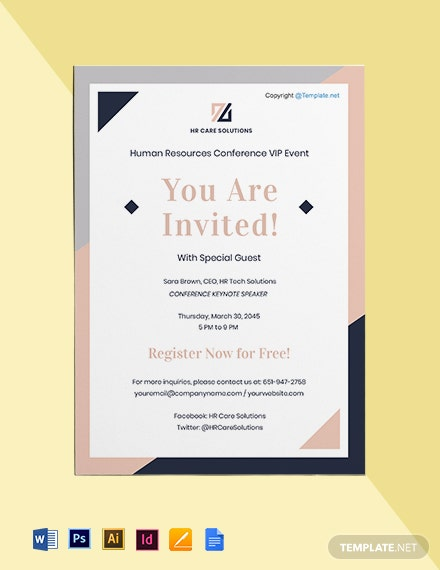 Free Simple HR Invitation Template
