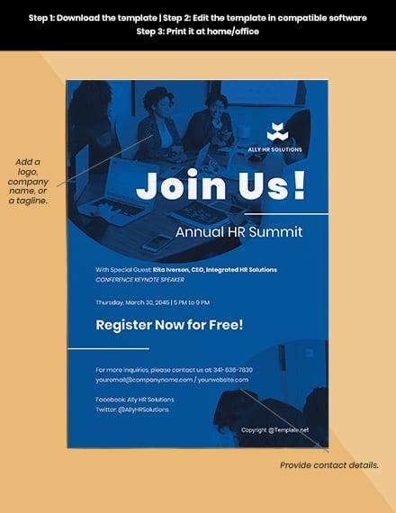 Free Modern HR Invitation Format