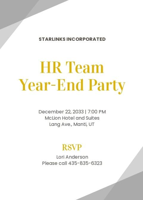 Elegant HR Invitation Template