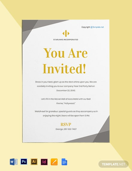 Free Elegant HR Invitation Template