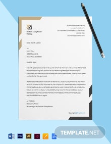 Free Formal HR Invitation Template