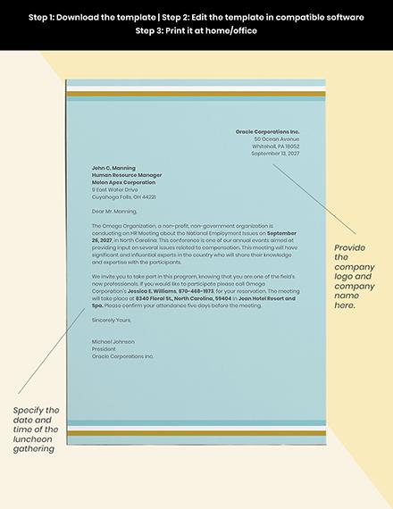 HR Meeting Invitation Template Sample