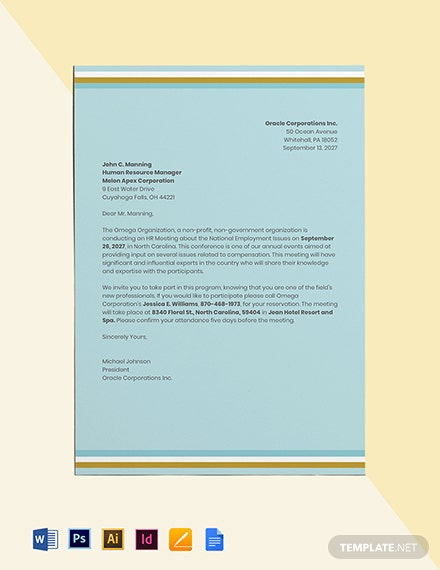 HR Meeting Invitation Template