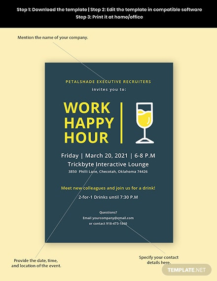 Work Happy Hour Invitation Template Format