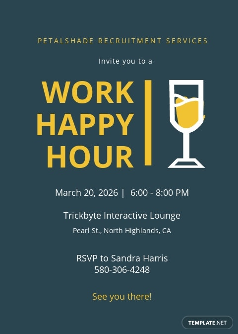 Work Happy Hour Invitation Template