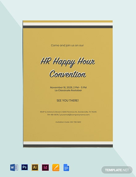 HR Happy Hour Invitation Template