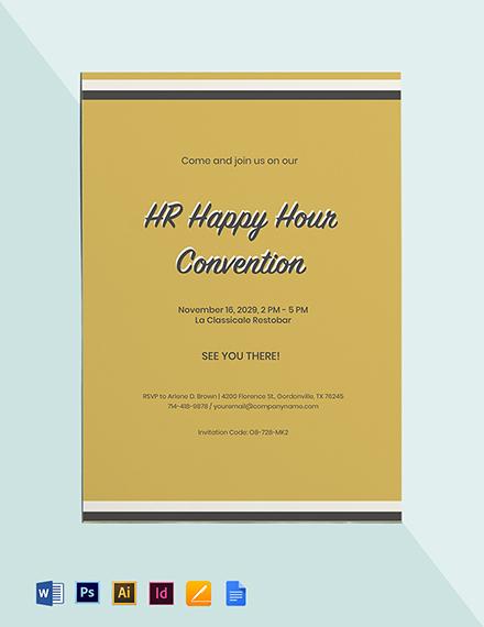 HR Happy Hour Invitation Template