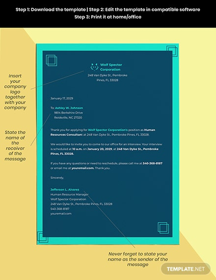 Interview Invitation Template Format