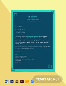 Interview Invitation Template