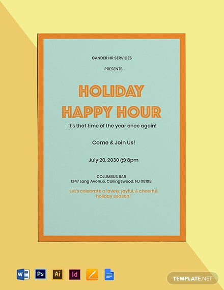 Holiday Happy Hour Invitation Template