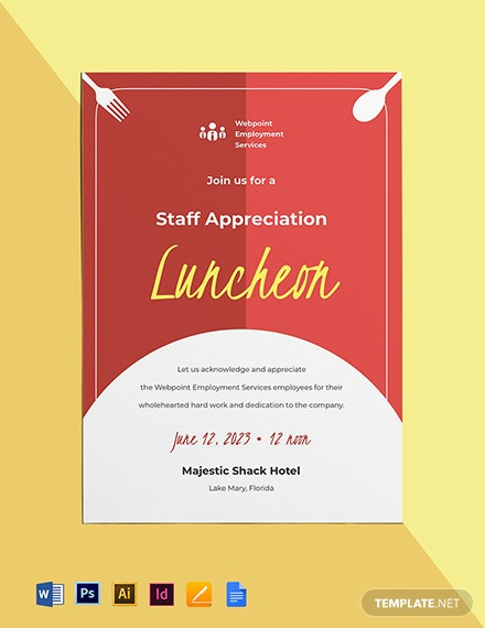 Staff Appreciation Luncheon Invitation Template
