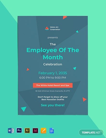 Employee of the Month Invitation Template