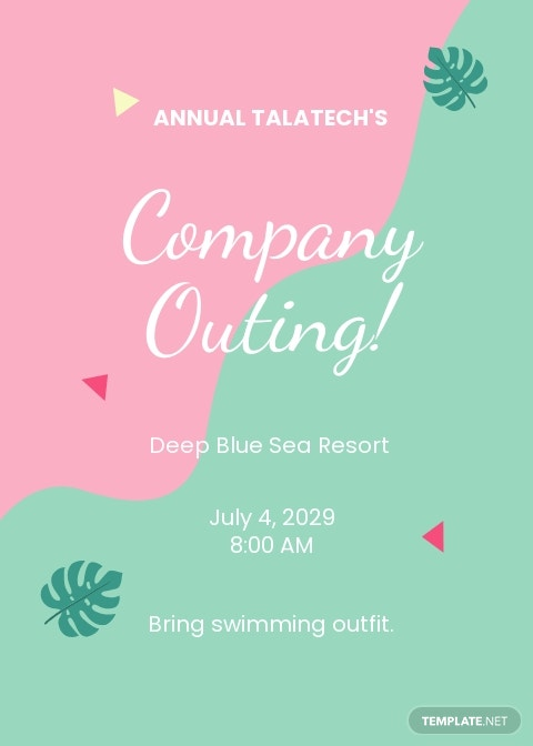 Company Outing Invitation Template